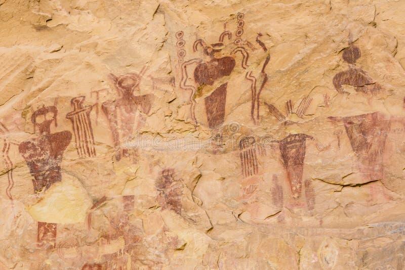 Arte della roccia del canyon di Sego fotografia stock