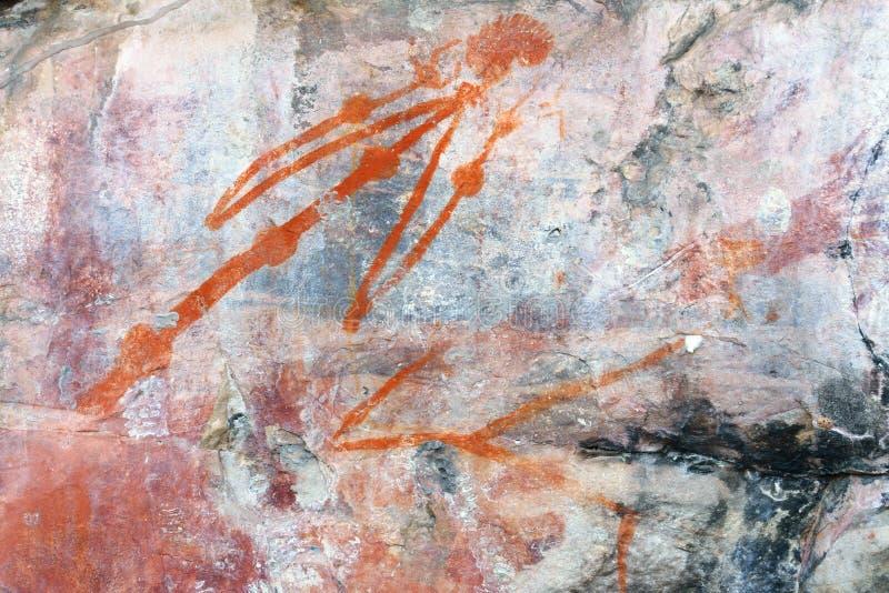 Arte della roccia dell'uomo di Ubirr immagine stock