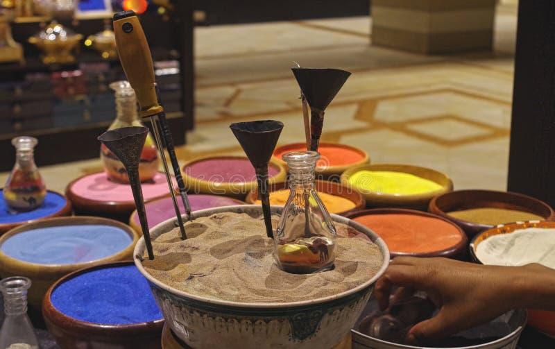 Arte della sabbia nella via ricordo tradizionale fotografia stock libera da diritti