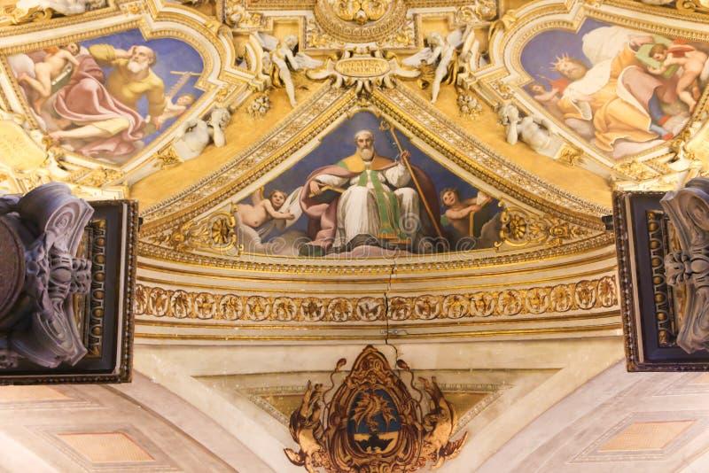 Arte della st Peter Basilica, Vaticano immagini stock libere da diritti