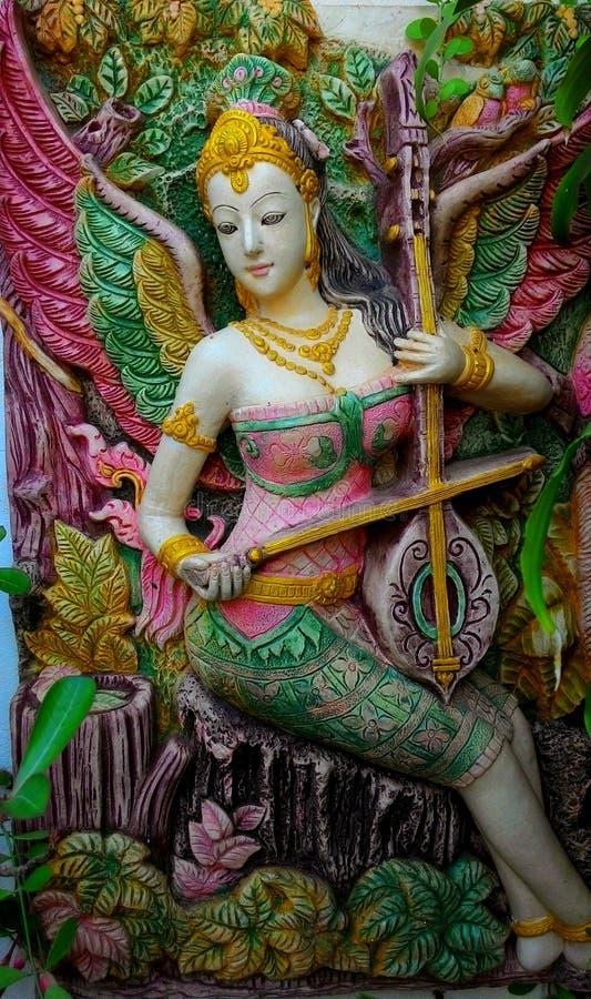 Arte della Tailandia, pittura, immagini, statua immagini stock libere da diritti