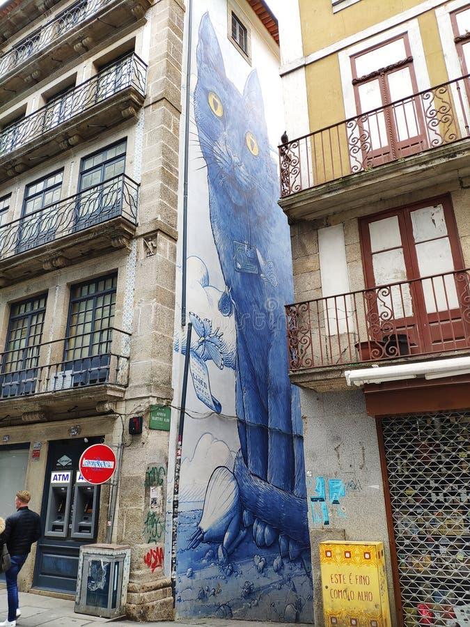 Arte della via alla città di Oporto immagine stock libera da diritti