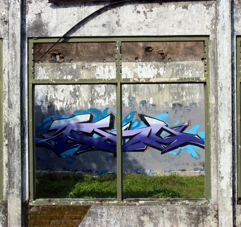 Arte della via dei graffiti di Tevoone fotografia stock libera da diritti