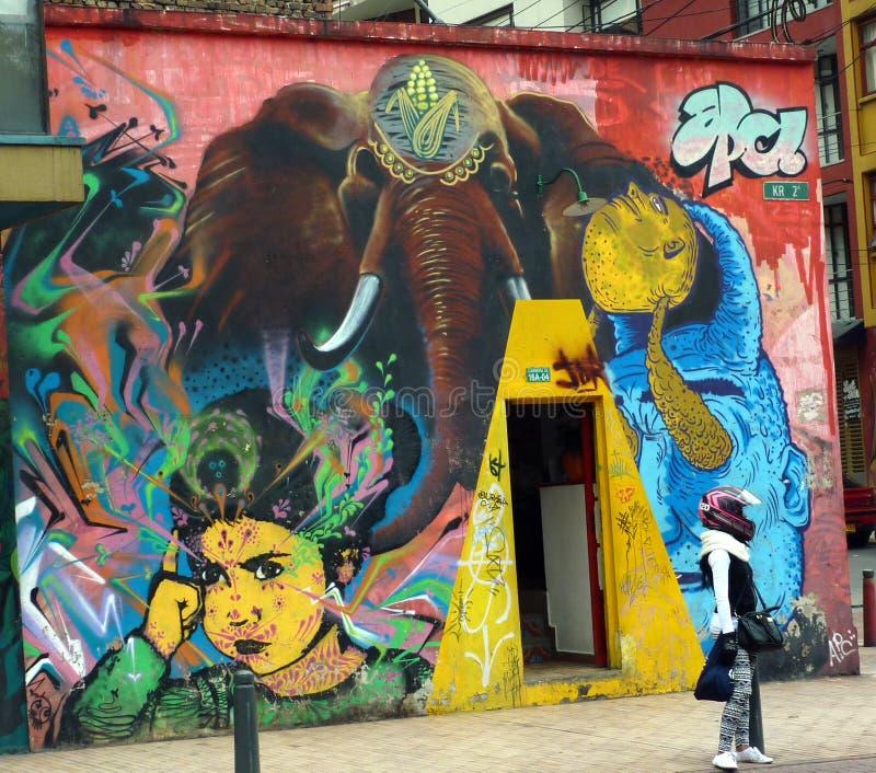 Arte della via dell'elefante fotografia stock libera da diritti