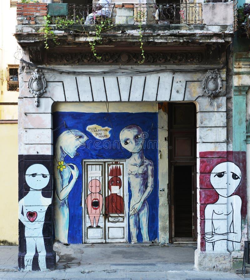 Arte della via di Cuba immagini stock libere da diritti