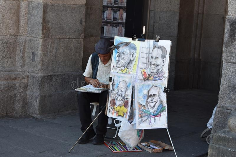 Arte della via di Madrid fotografia stock libera da diritti