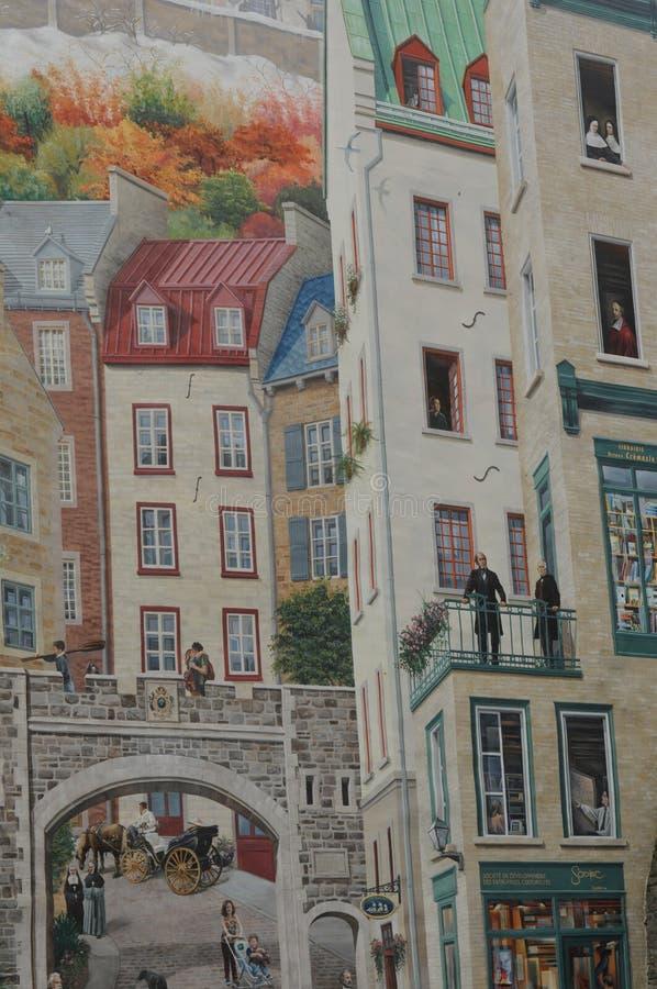 Arte della via di Montreal fotografie stock