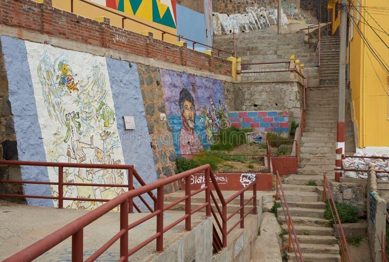 Arte della via di Valparaiso fotografie stock