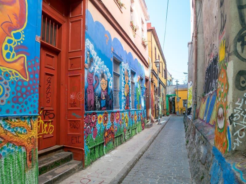 Arte della via di Valparaiso immagini stock