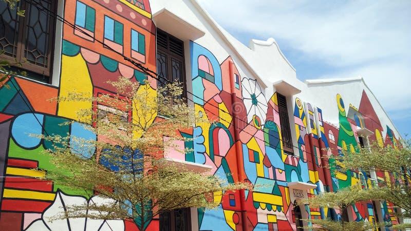 Arte della via in Melaka fotografia stock libera da diritti