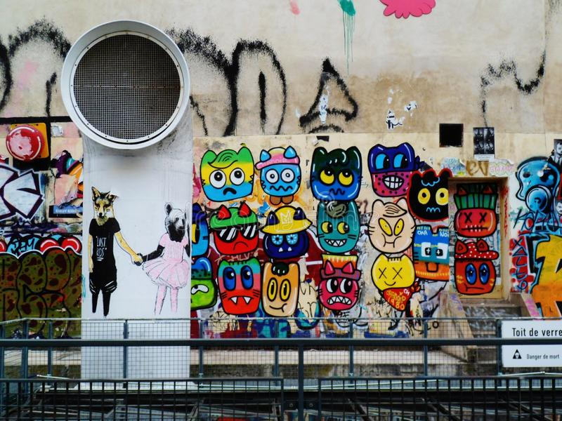 Arte della via a Parigi fotografia stock