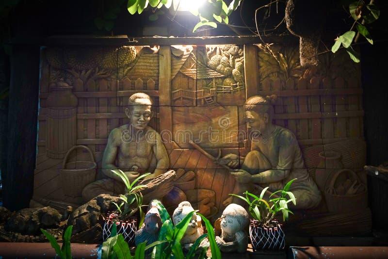 Arte dello stucco sulla parete fotografie stock