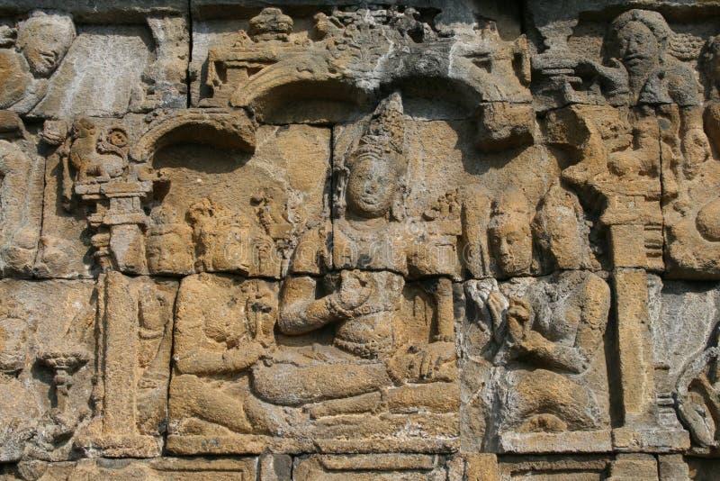Arte di Borobudur immagini stock
