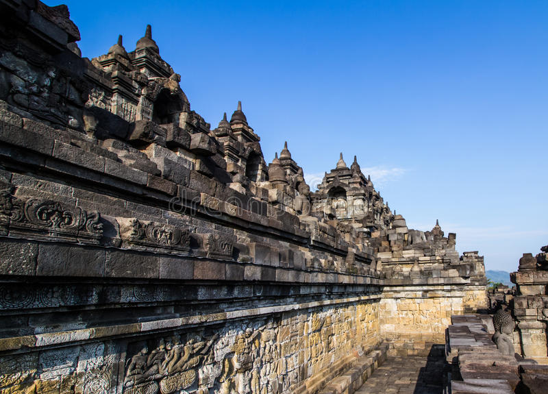 Arte di Borobudur fotografie stock