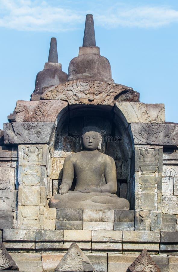 Arte di Borobudur fotografie stock libere da diritti