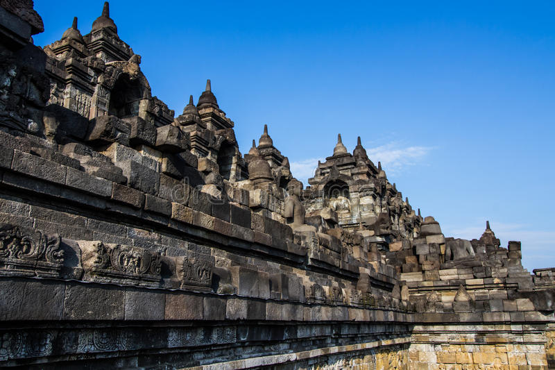 Arte di Borobudur fotografia stock