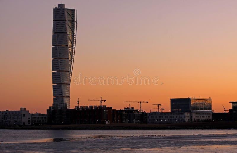 Arte di Calatrava all'indicatore luminoso di primo mattino fotografie stock