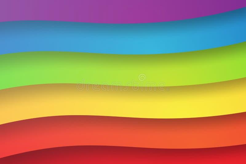 Arte di carta del fondo dell'estratto dell'arcobaleno di forma, variopinta, vettore, i illustrazione vettoriale
