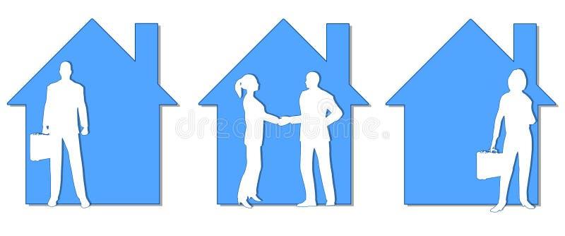 Arte di clip degli agenti immobiliari royalty illustrazione gratis