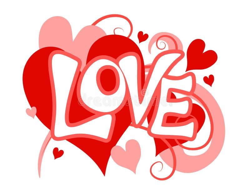 Arte di clip del cuore di amore di giorno del biglietto di S. Valentino illustrazione vettoriale