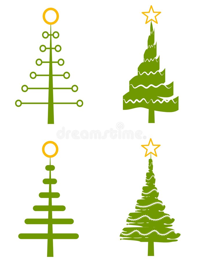 Arte di clip dell'albero di Natale royalty illustrazione gratis