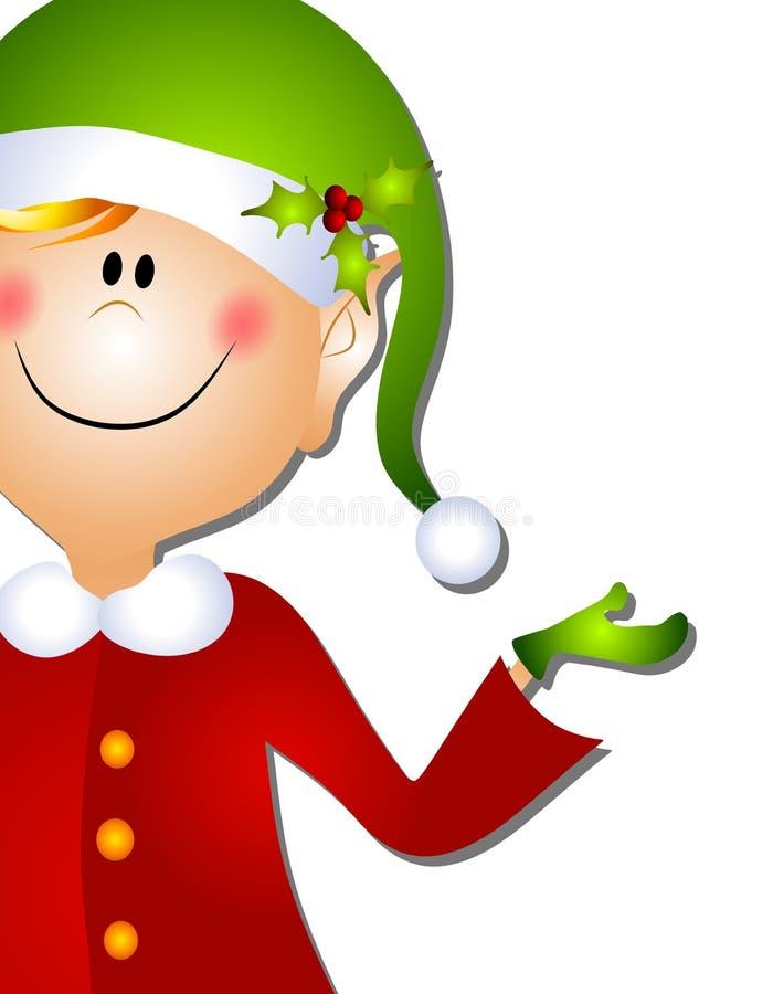 Arte di clip dell'elfo della Santa di natale 3 royalty illustrazione gratis