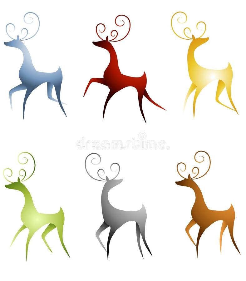 Arte di clip della renna illustrazione vettoriale