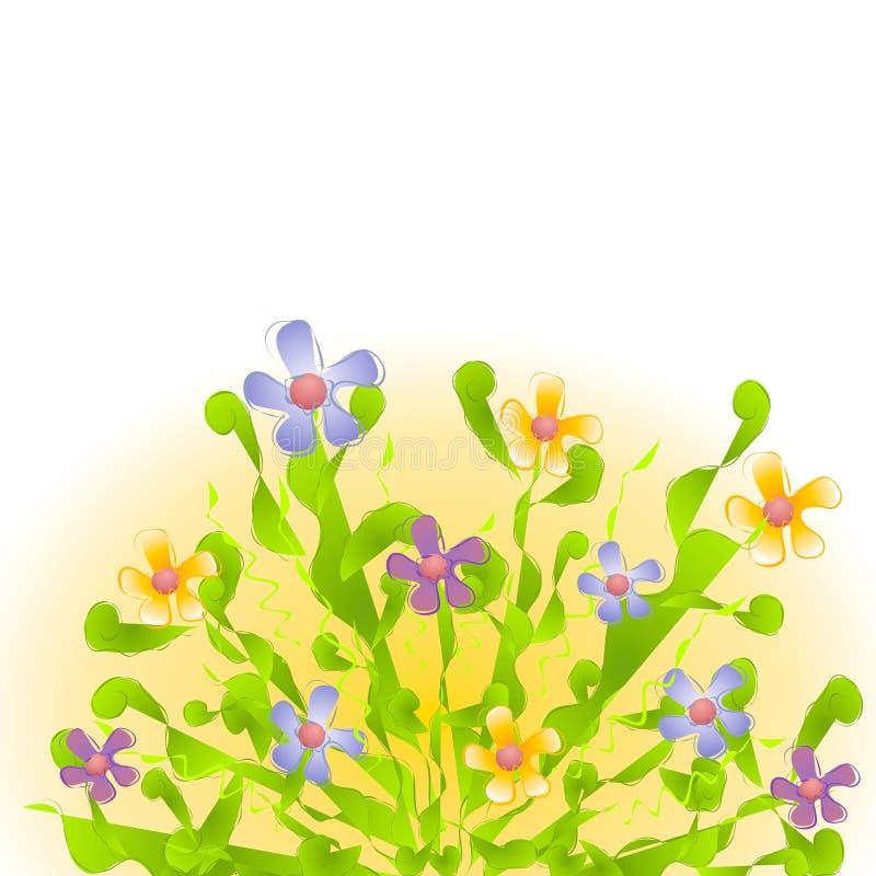 Arte di clip pastello del giardino di fiori illustrazione vettoriale