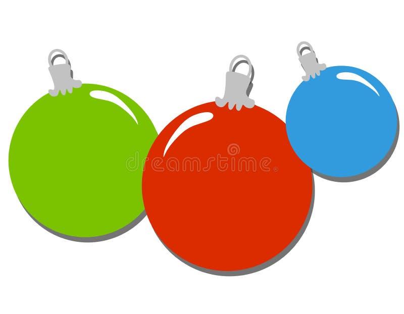 Clipart Semplice Degli Ornamenti Di Natale Immagine Stock Gratis