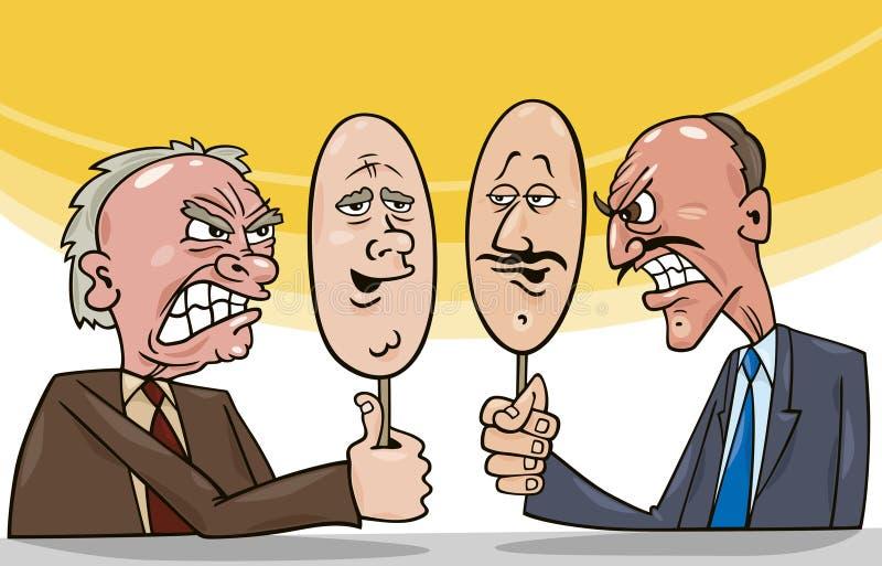 Arte di diplomazia illustrazione vettoriale