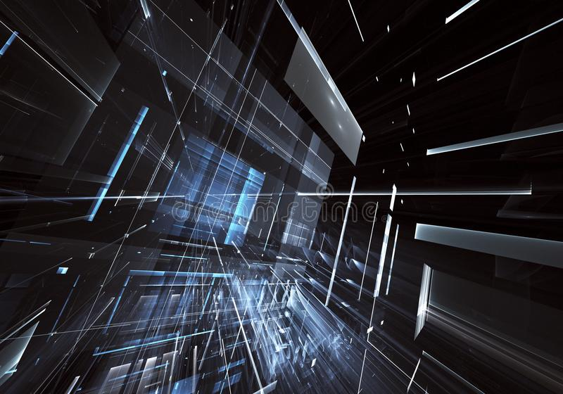 Download Arte Di Frattale - Immagine Del Computer 3D, Fondo Tecnologico Illustrazione di Stock - Illustrazione di futuristico, comunicazione: 117975920