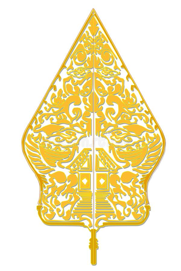 Arte di Java di simbolo di pace culturale fotografie stock libere da diritti