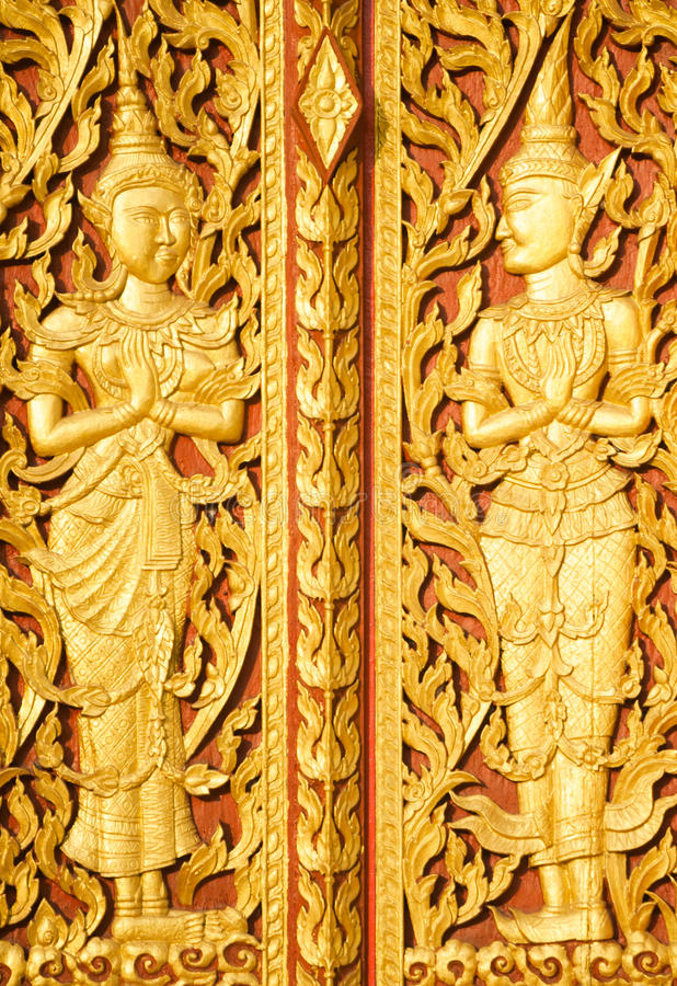 Arte di Lanna tailandese alla provincia di Pattani immagini stock libere da diritti