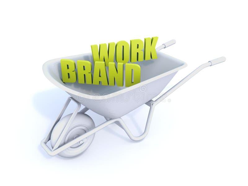Arte di parola del lavoro di marca royalty illustrazione gratis