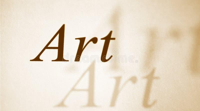 Arte di parola su un documento fotografia stock