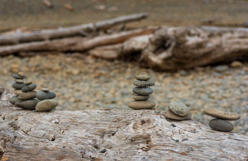 Arte di pietra della spiaggia immagine stock