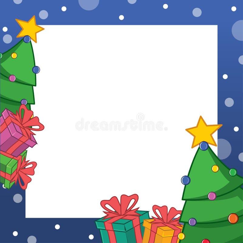 Arte di progettazione della struttura di Natale della raccolta royalty illustrazione gratis