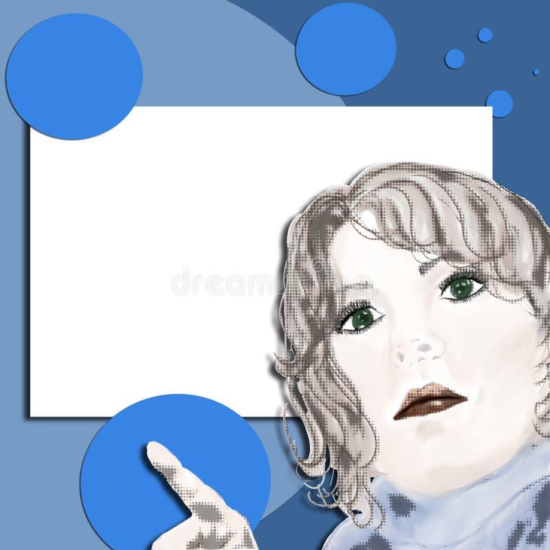 Arte di schiocco - sguardo qui! illustrazione di stock