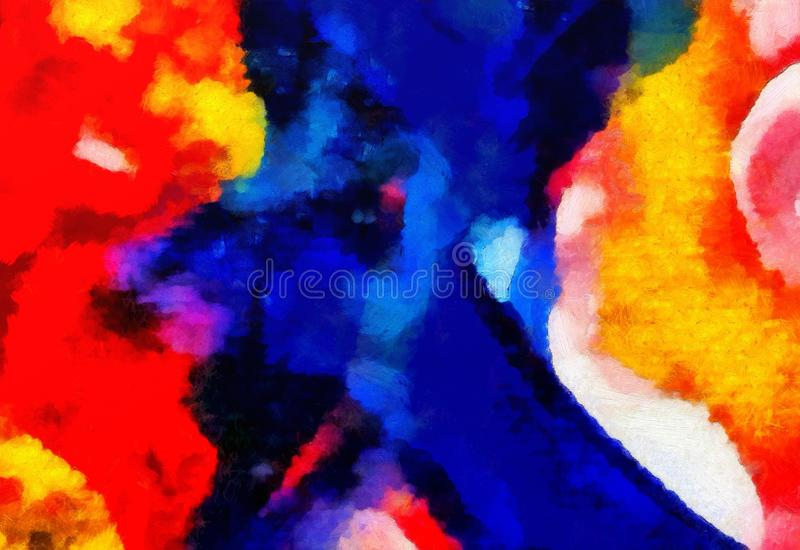 Arte di struttura dell'estratto della miscela di colore dell'impressione Fondo luminoso artistico Materiale illustrativo della pi illustrazione di stock