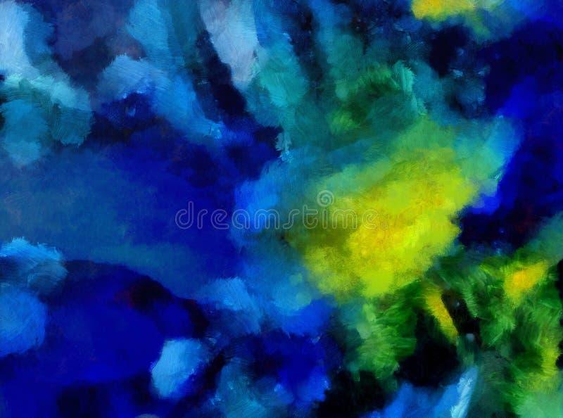Arte di struttura dell'estratto della miscela di colore dell'impressione Fondo luminoso artistico Materiale illustrativo della pi royalty illustrazione gratis