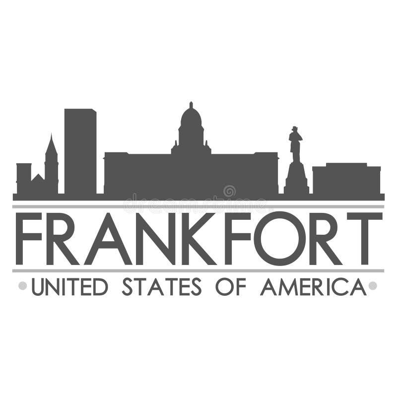 Arte di vettore della città di progettazione di simbolo dell'orizzonte di frankfurter illustrazione di stock