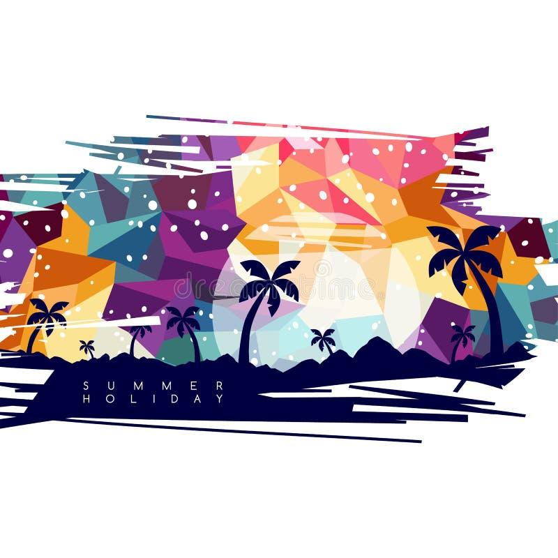 arte di vettore di tema di vacanza di vacanza estiva illustrazione vettoriale