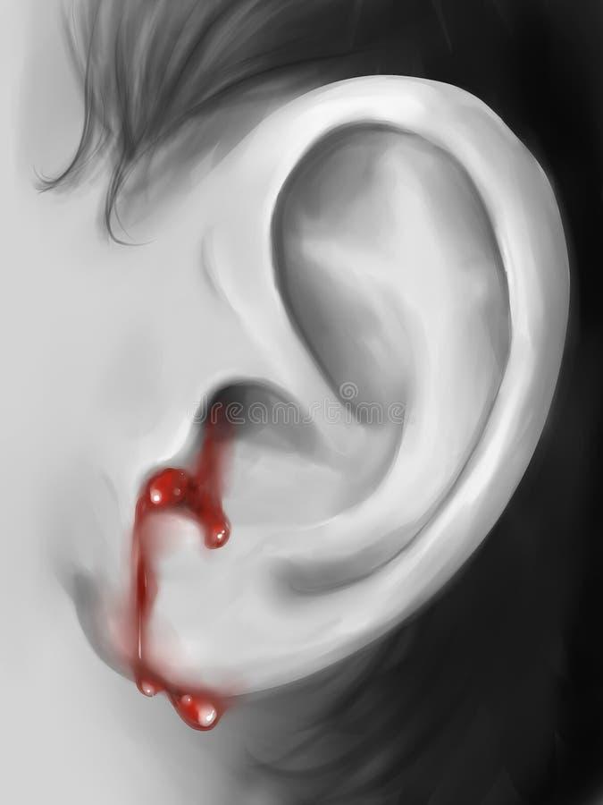 Arte digital da orelha do sangramento fotos de stock