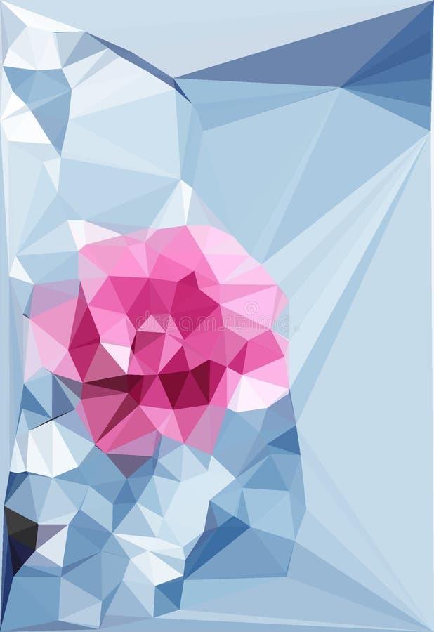 Arte digital de las flores con efectos de los colores claros stock de ilustración