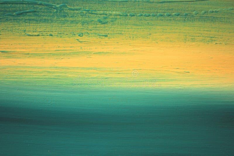 Arte dipinta a mano del fondo impressionista astratto fotografia stock libera da diritti