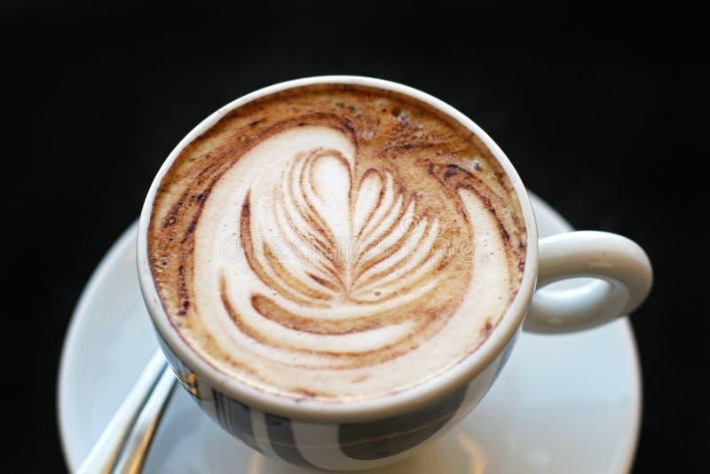 Arte do cappuccino fotos de stock