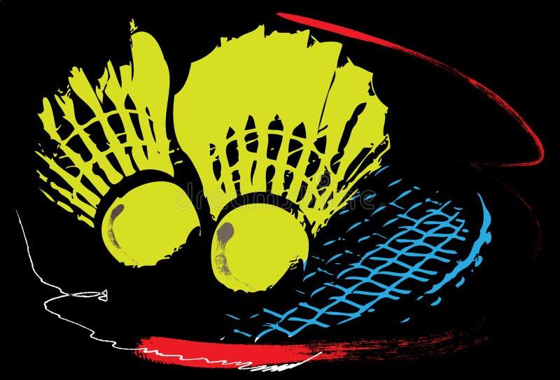 Arte do esporte do badminton ilustração do vetor