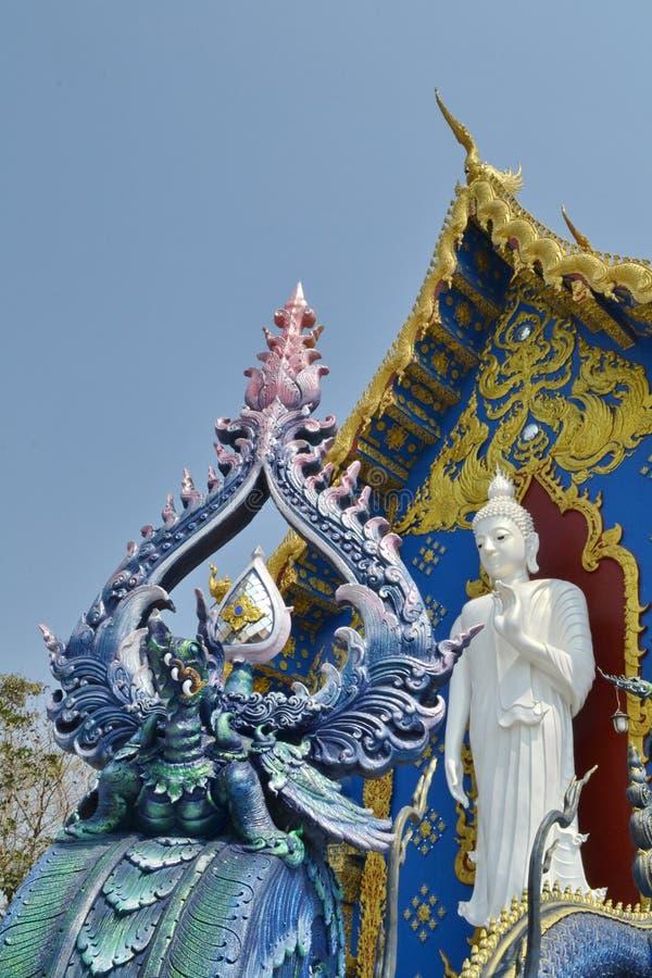 Arte do estuque em Wat Rong Sua Ten, Chiang Rai Province, Tailândia fotos de stock royalty free