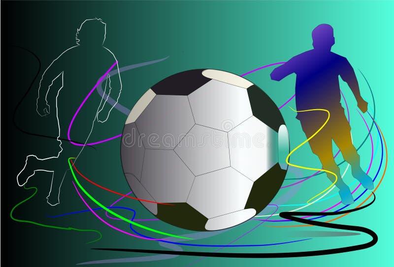 Arte do futebol do fundo ilustração stock