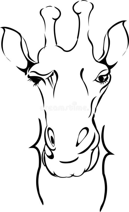 arte do girafa ilustração do vetor